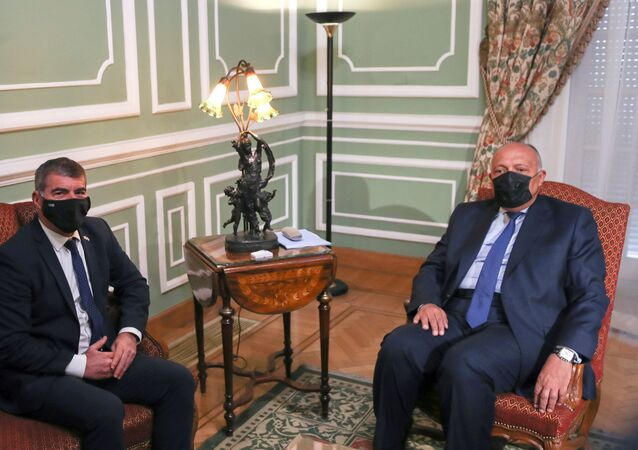 Mısırlı mevkidaşı Semih Şukri ile bir araya gelen İsrail Dışişleri Bakanı Gabi Aşkenazi