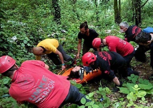 Trabzon'da kaleden düşen Recep Aydın