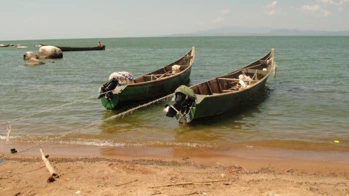 Uganda'daki Viktorya Gölü