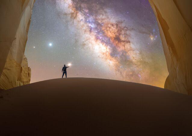 Spencer Welling'ın Utah kayalarında yaptığı 'Chamber of light' adlı kare.