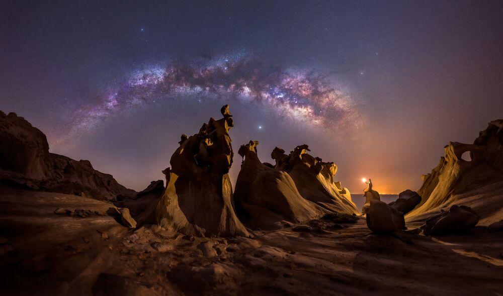 Mohammad Hayati'nin, İran'da Basra Körfezi'nin kıyısından görüntülediği Samanyolu.
