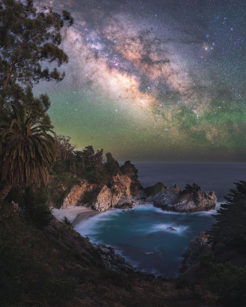 Marcin Zajac'ın Kaliforniya'da çektiği Samanyolu fotoğrafı.