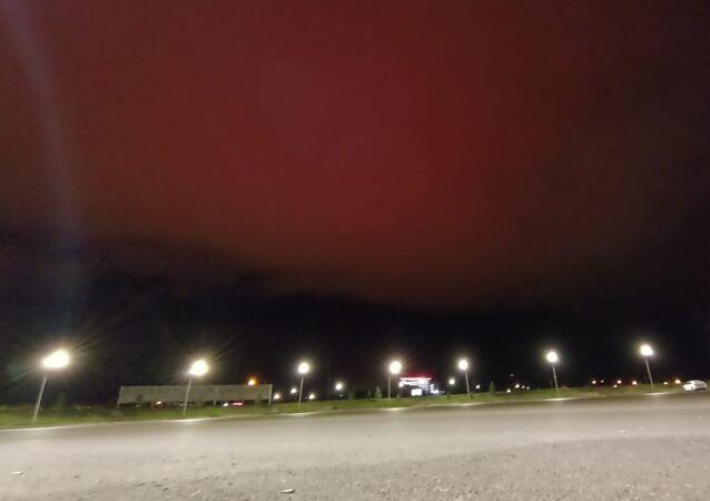 Erzurum kızıl gökyüzü-hava olayı