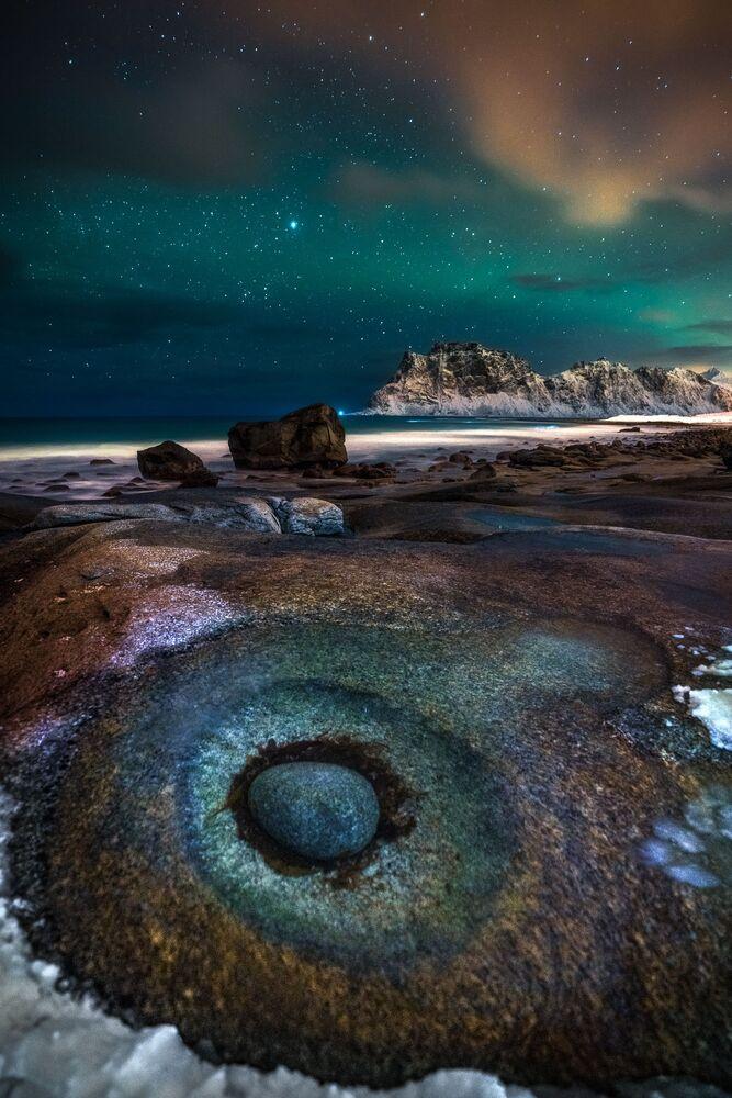 Ivan Pedretti, 'The Eye' adını verdiği fotoğrafı Norveç'te çekti.