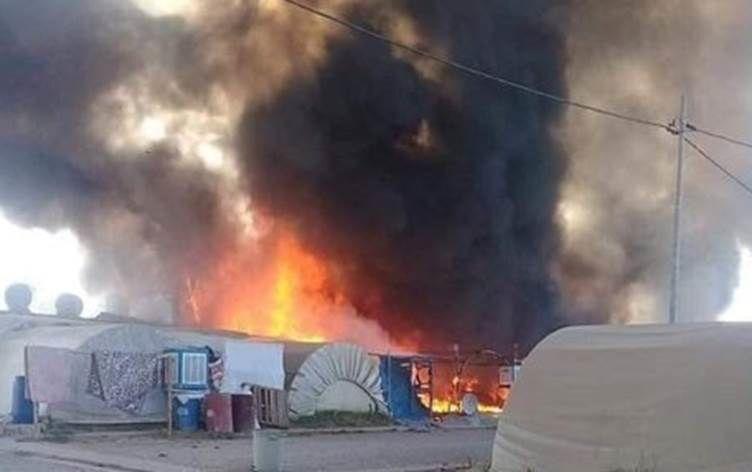 Irak'ta göçmen kampında yangın