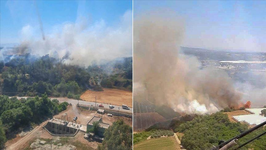Antalya'da ormanlık alan ve tarım arazisinde çıkan yangınlar kontrol altına alındı