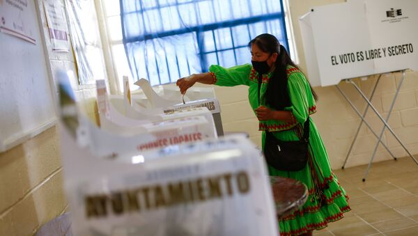 Meksika'da, ülke genelinde düzenlenen yerel seçimler - Sputnik Türkiye