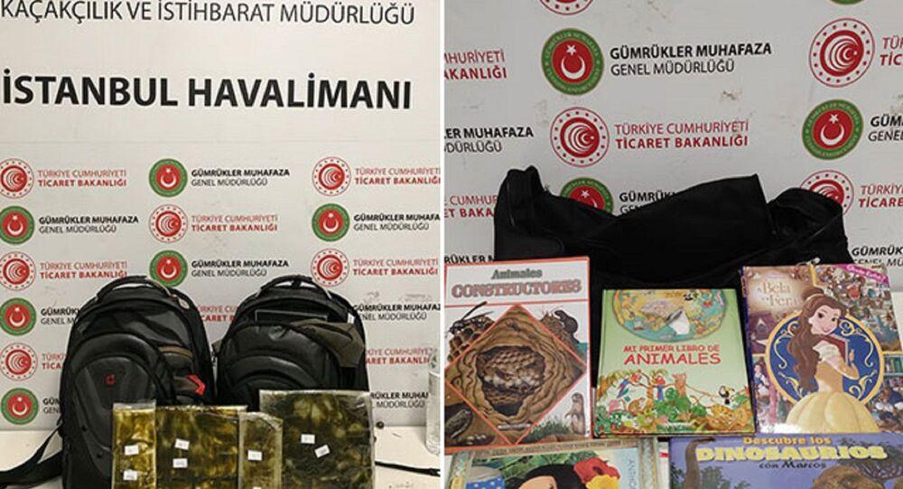 İstanbul Havalimanı'nda kitap kapaklarında uyuşturucu ele geçirildi