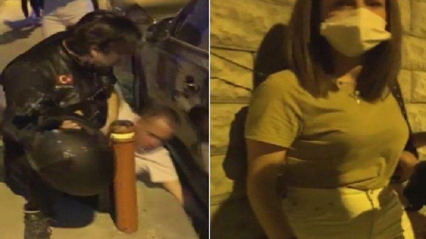 Şişli'de motosikletlilerin kurtardığı kadın-darp