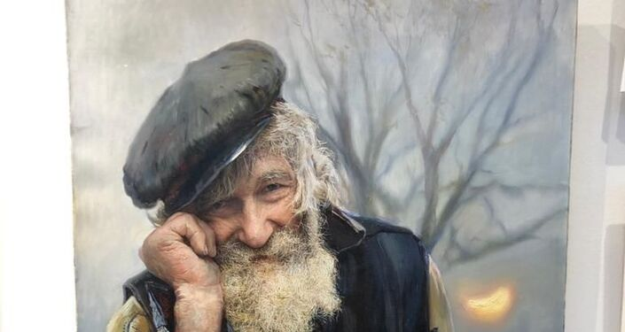 Rus ressam Konstantin Miroşnik'in 'Rus mutluluğu' adlı resim