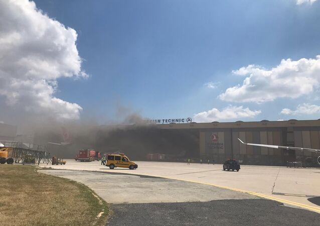 Atatürk Havalimanı Türk Hava Yolları bakım hangarı oksijen tüpü patlaması