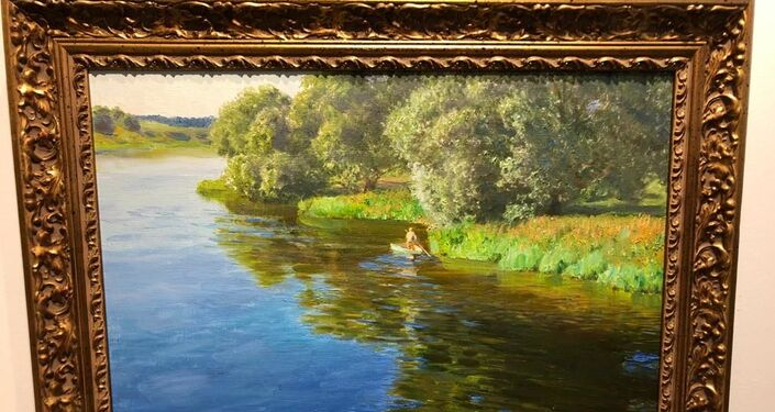Rus ressam Oleg Polunin'in resmi