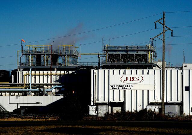 ABD merkezli Brezilyaet işleme şirketi JBS'nin Minnesota eyaletindeki Worthington domuz eti tesisi