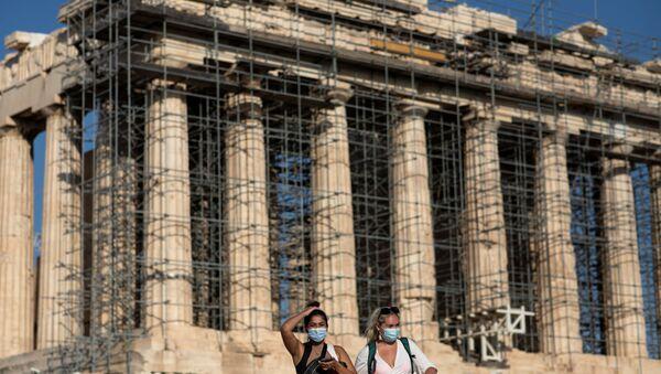 Atina Akropolisi'ne beton yol döşenmesi Yunanistan'da tepkiyle karşılandı - Sputnik Türkiye