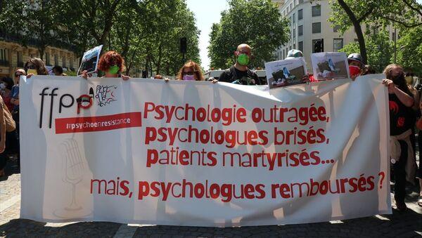 Fransa'da psikologlar gösteri düzenledi - Sputnik Türkiye