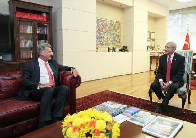CHP Genel Başkanı Kemal Kılıçdaroğlu, Türk Sanayicileri ve İş İnsanları Derneği (TÜSİAD) Yönetim Kurulu Başkanı Simone Kaslowski ve beraberindeki heyeti kabul etti.