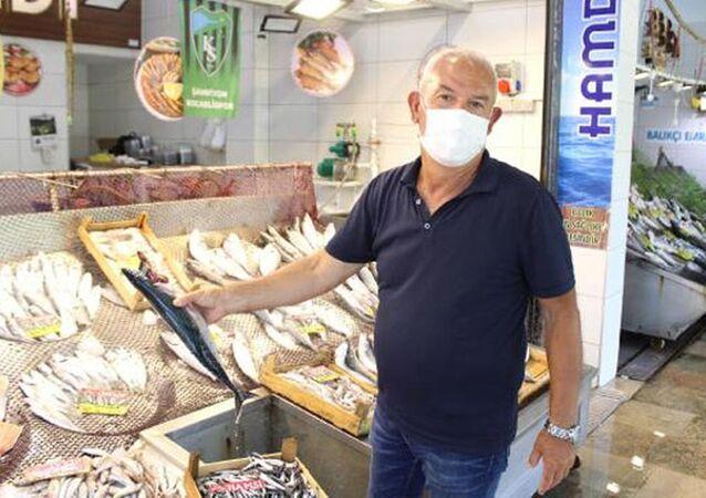 """Marmara'da etkili olan müsilaj, müşterileri Marmara balığından uzaklaştırdı. Balıkçı Kemal Bineklioğlu, """"Müsilajdan dolayı balık pazarına gelen insan sayısı azaldı. Her gelen 'Marmara balığı mı?' diye soruyor, Marmara balığı satmayacağız'' dedi."""