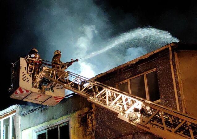 Bina itfaiye yangın söndürme,
