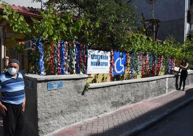 Dede torun mavi kapak projesi Eskişehir-Halit Aydoğan ve Melike Sarıtaş