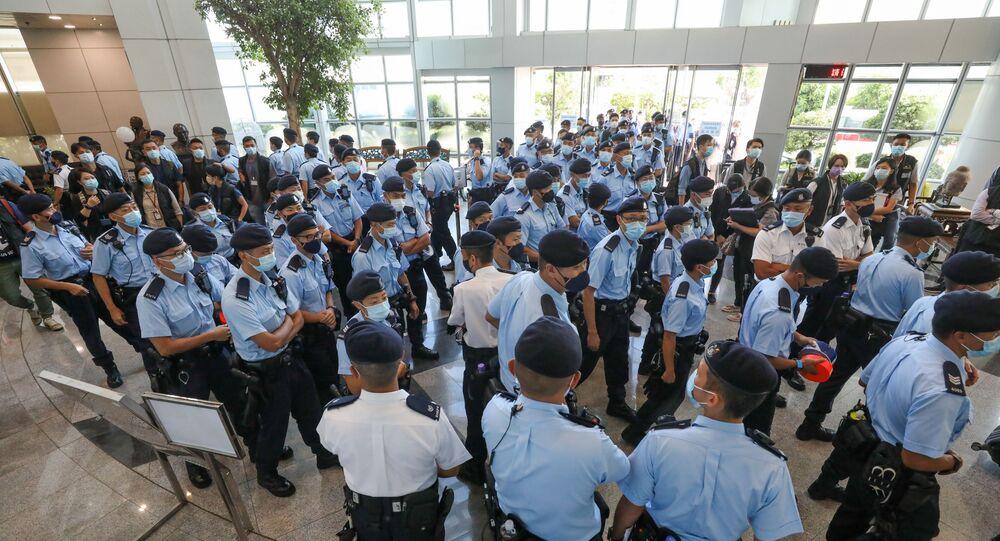 Hong Kong -  Apple Daily - polis baskını