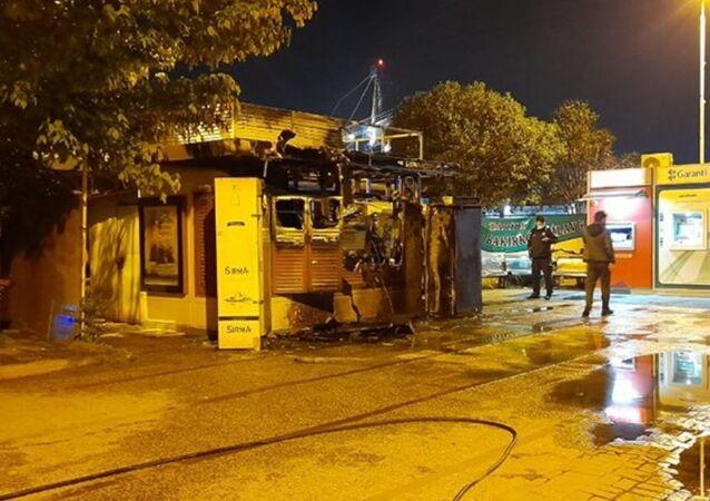 İBB Halk Ekmek yangın Bakırköy