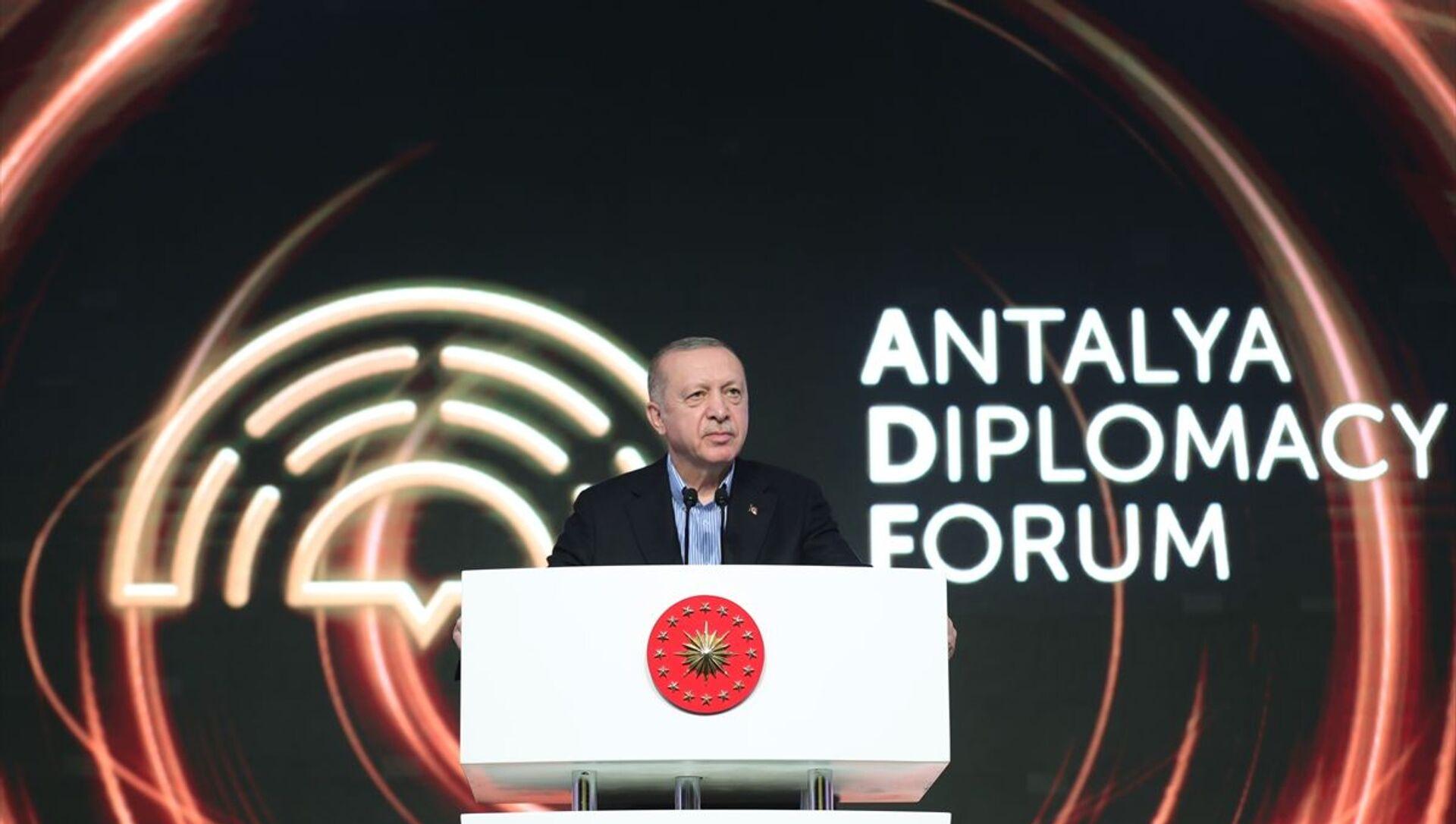 Recep Tayyip Erdoğan - Antalya diplomasi forumu - Sputnik Türkiye, 1920, 18.06.2021