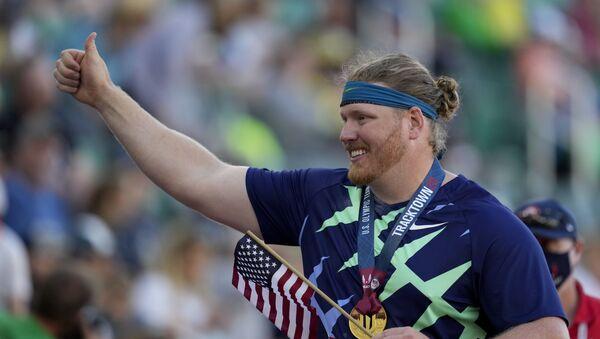 ABD'li sporcu Ryan Crouser, gülle atmada 31 yıllık dünya rekorunu kırdı - Sputnik Türkiye