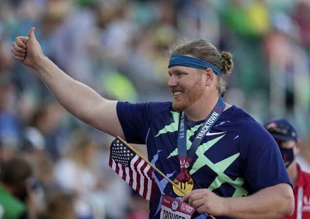 ABD'li sporcu Ryan Crouser, gülle atmada 31 yıllık dünya rekorunu kırdı.