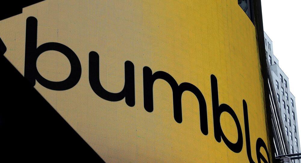 New York'taki Nasdaq borsasında Bumble uygulamasının operatör şirketinin halka arz duyurusu