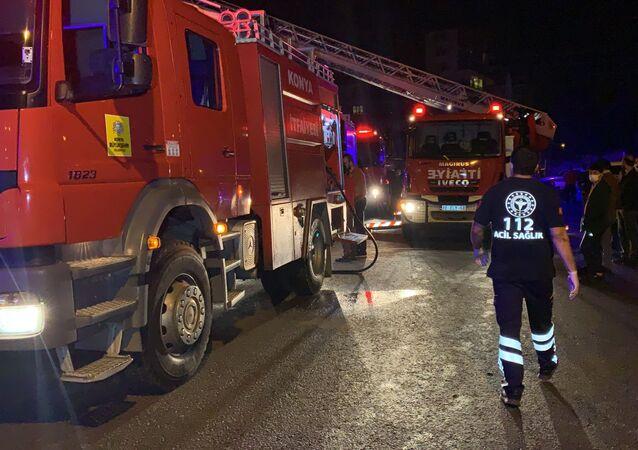 Konya'da Suriyeli ailenin kaldığı evde yangın: 3 çocuk öldü