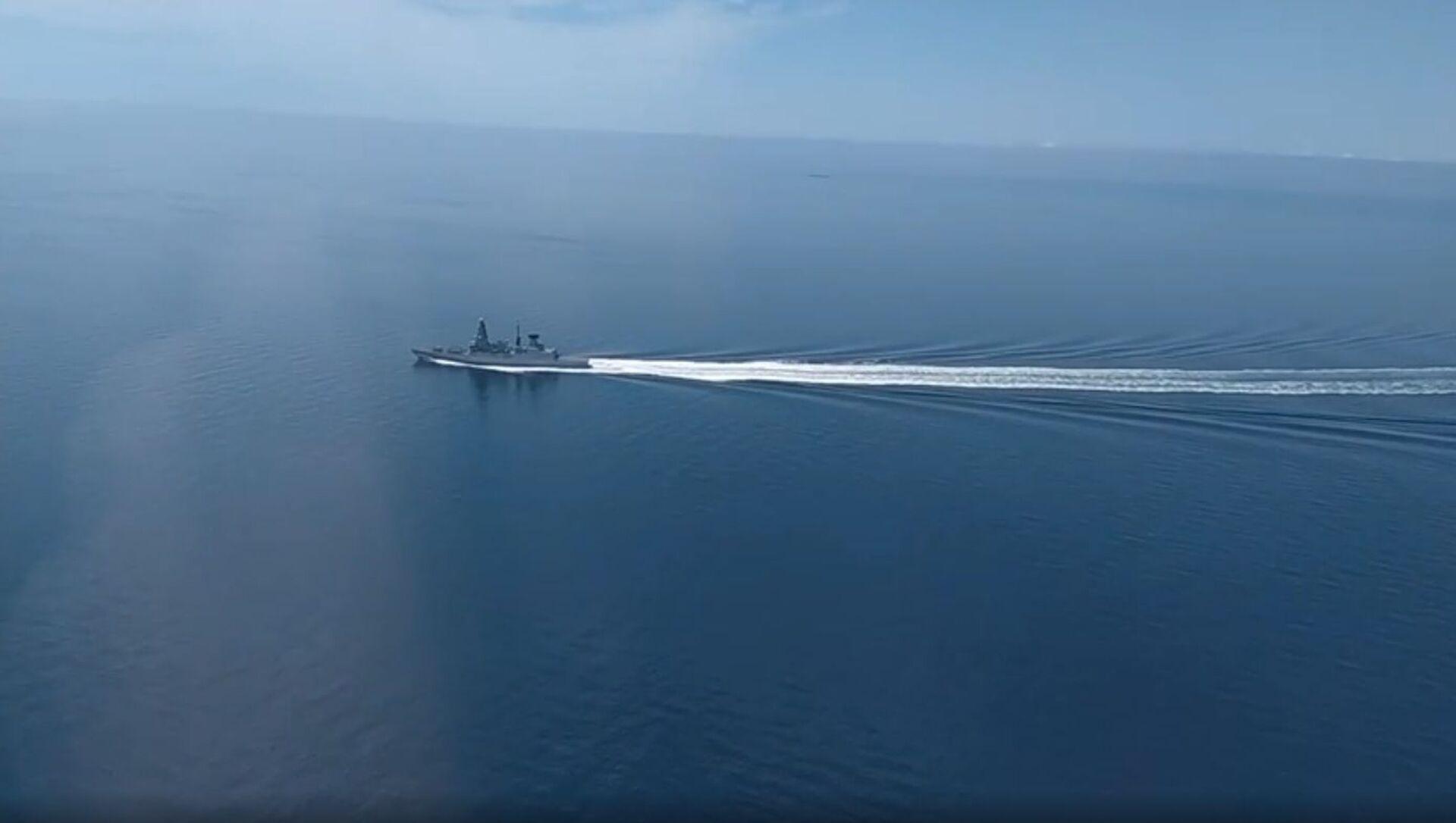 Rusya Savunma Bakanlığı'dan Karadeniz'de sınır ihlalini yapan İngiliz gemisinin görüntüleri - Sputnik Türkiye, 1920, 02.08.2021