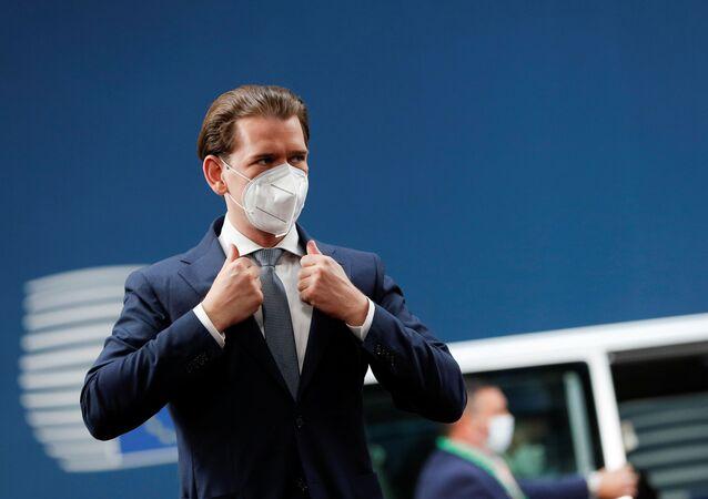 Avusturya Başbakanı Sebastian Kurz, Brüksel'deki AB zirvesine giriş yaparken