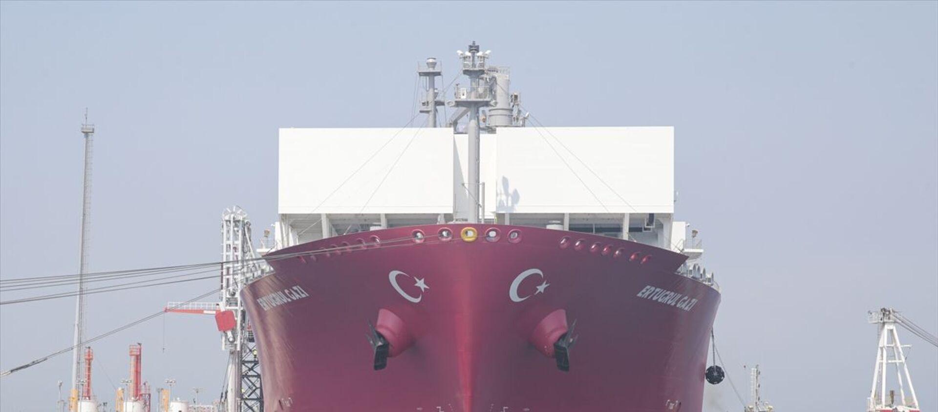 Türkiye'nin ilk doğalgaz depolama gemisi Ertuğrul Gazi - Sputnik Türkiye, 1920, 25.06.2021