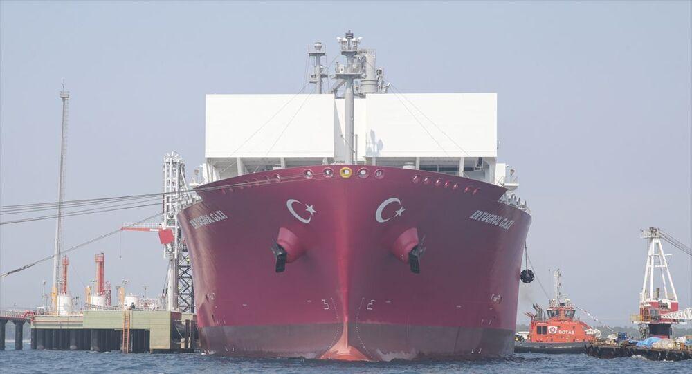 Türkiye'nin ilk doğalgaz depolama gemisi Ertuğrul Gazi