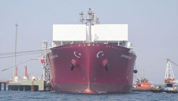 Türkiye'nin ilk doğalgaz depolama gemisi Ertuğrul Gazi - Sputnik Türkiye