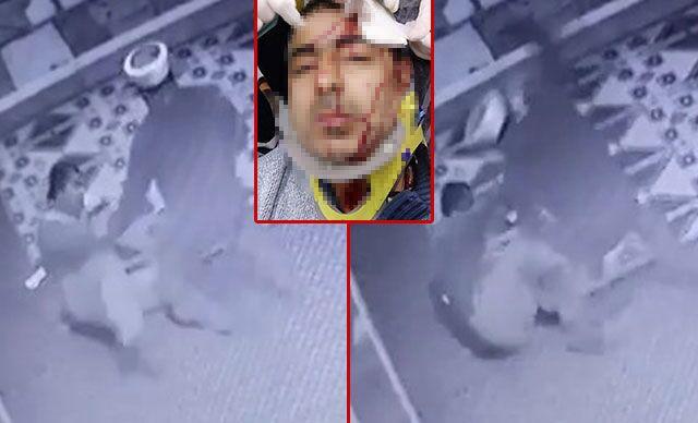 Amasya'da camide görevli müezzin Yavuz Selim A.'nın, tartıştığı aynı camide görevli imam Beytullah S. tarafından plastik tabureli saldırısında yaralandığı anlara ait güvenlik kamera görüntüleri ortaya çıktı.