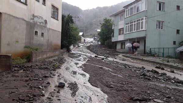 Giresun'da etkili sağanak: Dere taştı, yollar çamurla kaplandı - Sputnik Türkiye
