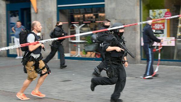 Almanya polis protesto - Sputnik Türkiye