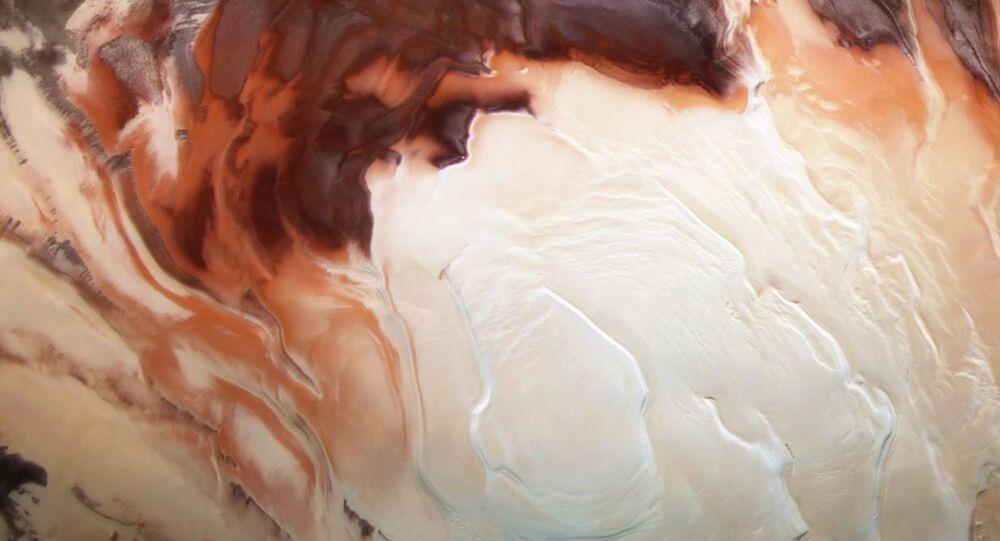 Mars buz örtüsü, güney kutbu