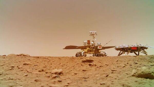 Çin'in uzay aracı Zhurong Mars - Sputnik Türkiye