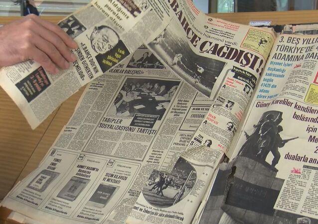 Atatürk Kitaplığı'ndaki 190 yıllık gazetelere jiletle zarar