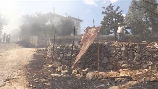 Muğla'nın Ula ilçesi, yangın - Sputnik Türkiye