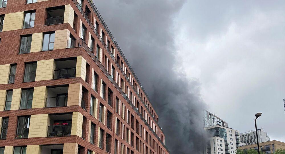 Londra'da yangın