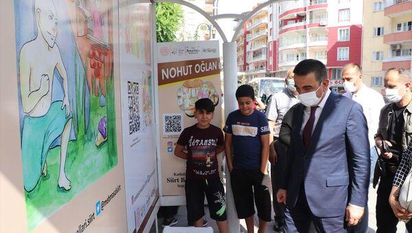 Siirt'te 'Masal Durakları Projesi': Otobüs bekleyen çocuklar karekodla masal dinleyebilecek - Sputnik Türkiye