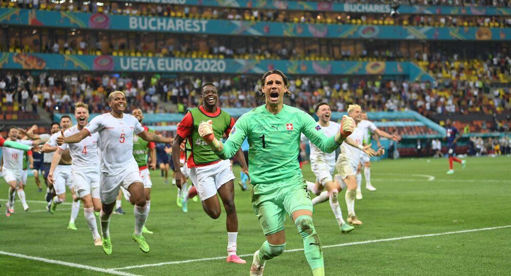 EURO 2020'de tarihi galibiyet: Penaltı atışlarında Fransa'yı 5-4 yenen İsviçre, çeyrek finale yükseldi