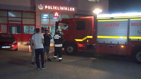 Bartın Devlet Hastanesi - yangın - Sputnik Türkiye