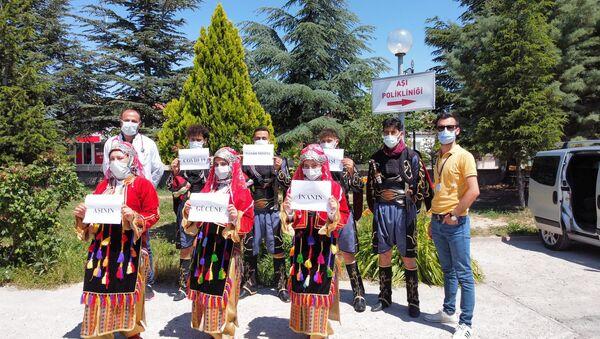 Afyonkarahisar'da halk oyunları ekibi koronavirüs aşı - Sputnik Türkiye