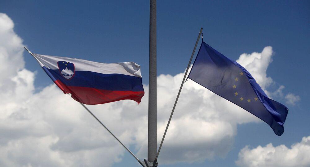 Avrupa Birliği - Slovenya - bayrak