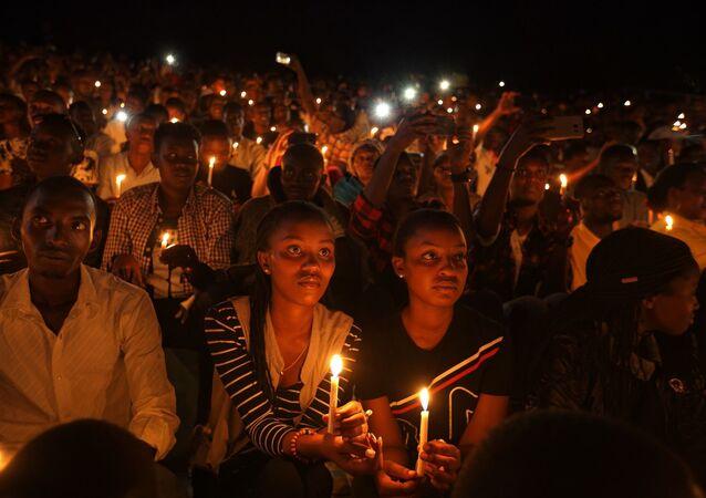 Ruanda - soykırım - anma töreni