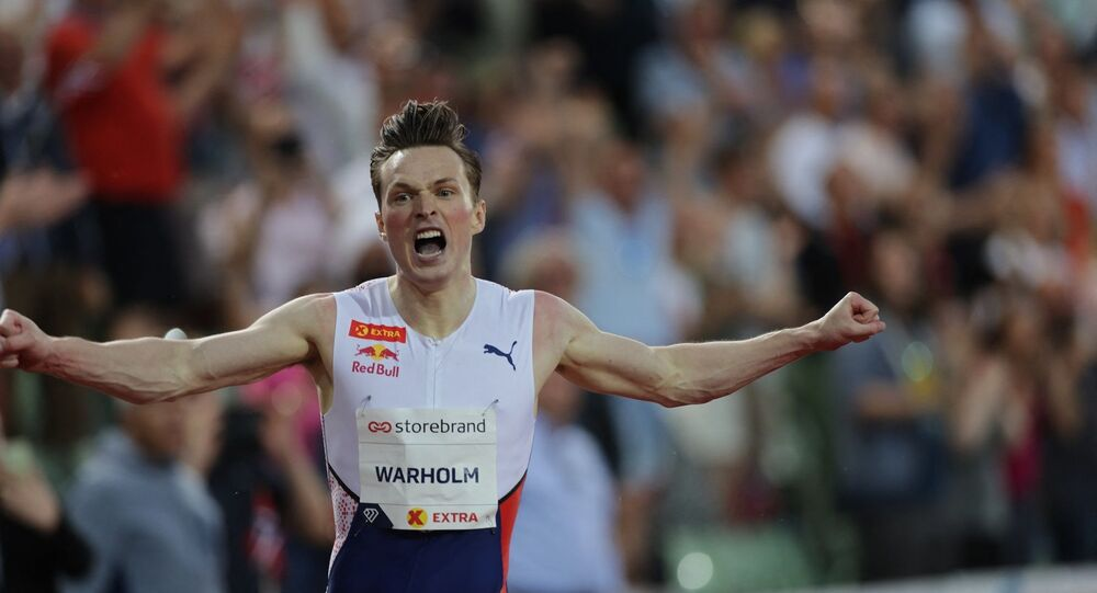 Norveçli atlet Karsten Warholm
